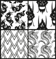 Set of chinese patterns vector image vector image