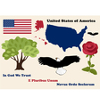 set of USA symbols vector image vector image