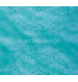 blue water tribal background with white mandalas vector image