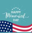 happy memorial day card national american vector image