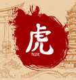 hand drawn japanese kanji with meaning vector image