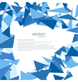 Abstract Triangle Geometrical Background vector image vector image