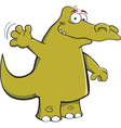 Cartoon Waving Alligator vector image