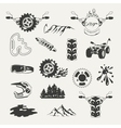 Set of extreme sports emblems badges labels and vector image
