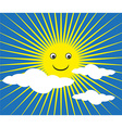 Happy Sun background vector image