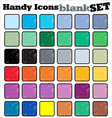 handy icons blank set vector image