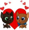 cute kitten and kitten vector illustration vector image vector image