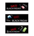 Adaptor Power Supply on Black Friday Sale Banners vector image