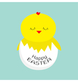 Easter sleeping chiken Egg shell Baby background vector image
