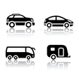 set of transport icons - vehicles vector image vector image
