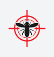 wasp icon red target vector image vector image