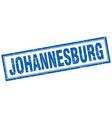 Johannesburg blue square grunge stamp on white vector image