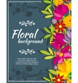 Abstract spring background with flowers vector image