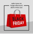 black friday shopping bag sale poster vector image