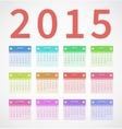 Calendar annual 2015 in flat design vector image
