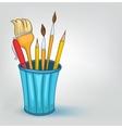 cartoon pencil set vector image