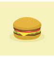 Fast Food Hamburger vector image