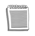 hand drawing of notebook of spiral with sheets vector image