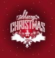Merry Christmas openwork design vector image