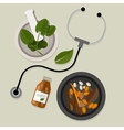 natural alternative medicine traditional vector image