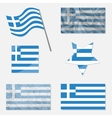 Set with Flags of Greece vector image