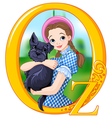 Dorothy and Toto vector image