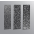 Vertical set Silver sequins banners Glitter vector image