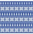 Nordic christman seamless pattern with people vector image vector image