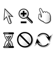 Web cursors icons vector image