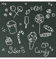 Sweets and chocolate icons vector image