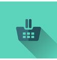 Blue shopping cart icon Flat design vector image