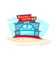 Railway station vector image