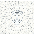 retro nautical logo template vector image vector image