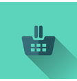 Blue shopping cart icon Flat design vector image