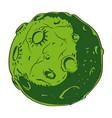 cartoon image of alien planet vector image