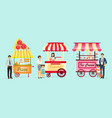 creative detailed street pizza cart vector image