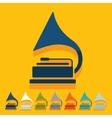 Flat design gramophone vector image