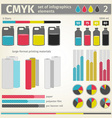 Infographic CMYK vector image