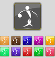 Summer sports basketball icon sign Set with eleven vector image