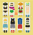 summer time beach fashion clothes looks design vector image