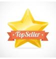Top Seller star label vector image