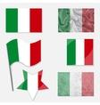 Italian Flag Set vector image