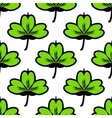 Clover leaf seamless pattern vector image