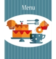 breakfast menu template vector image vector image