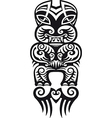 Taniwha tattoo design vector image