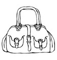 modern fashion bag or purse female accessory vector image