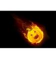 Halloween Pumpkin in Fire vector image vector image