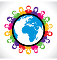 colorful people around the world vector image