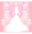 Abstract Beautiful floral bride vector image vector image