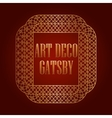 art deco element gatsby design vector image